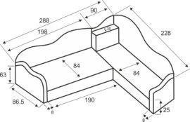 Размери ъглови легла Сезам